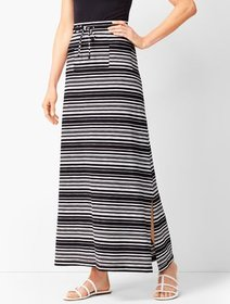 Talbots Patch-Pocket Stripe Maxi Skirt
