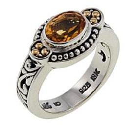 Bali Designs 1.14ct Oval Citrine Scrollwork Ring