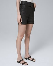 5-Inch Coated Shorts with Belt