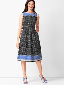 Talbots Geo-Print Fit & Flare Dress