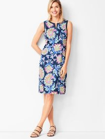 Talbots Paisley Shift Dress