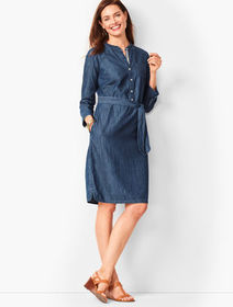 Talbots Denim Shirt Dress