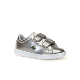 Lacoste Infants' Carnaby Evo Silver Synthetic Trai
