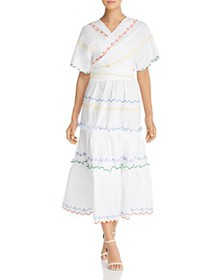 Tory Burch - Embroidered Wrap Dress