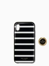 stability ring and stripe resin iphone xr case