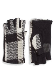 echo Plaid Fingerless Gloves