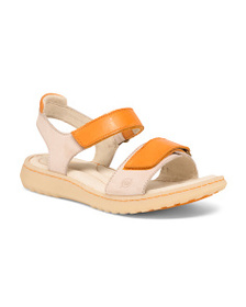 BORN Leather Comfort Footbed Sandals