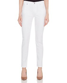 7 For All Mankind - Skinny Jeans in White Twill -
