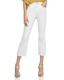 BCBGMAXAZRIA - High-Rise Cropped Bootcut Jeans in