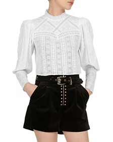 The Kooples - Lace Cropped Top