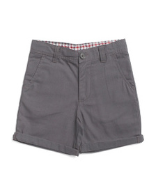 BEN SHERMAN Little Boys Roll Cuff Twill Shorts
