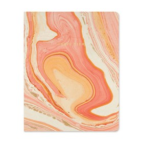 "Exposed Spine Journal 6.7"" x 8.5"" Orange Marble -"