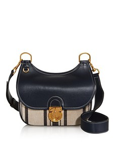 Tory Burch - James Small Awning Stripe Crossbody -