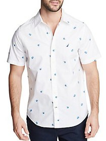 Nautica Fish Printed Short-Sleeve Shirt BRIGHT WHI