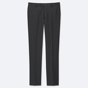 MEN STRETCH WOOL FLAT FRONT PANTS