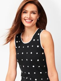 Talbots Charming Shell - Embroidered Dot
