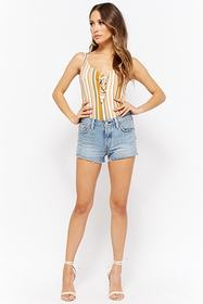 Forever21 Striped Tie-Front Bodysuit