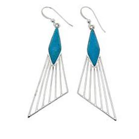 Jay King Red Skin Turquoise Sterling Silver Drop E