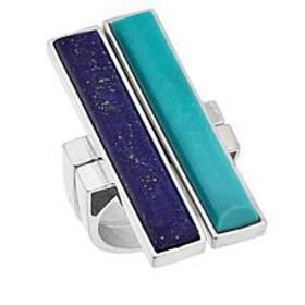 Jay King Blue Lapis and Campitos Turquoise 2-Ring