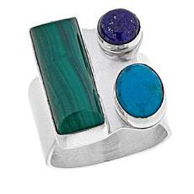 Jay King Turquoise, Lapis and Malachite Sterling S