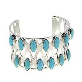 Jay King Red Skin Turquoise Sterling Silver Open C