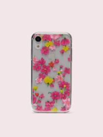 jeweled marker floral clear iphone xr case