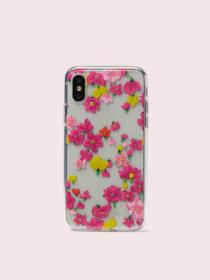 jeweled marker floral clear iphone x & xs case