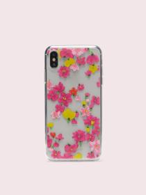 jeweled marker floral clear iphone xs max case