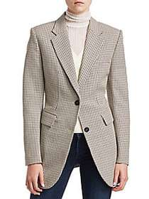 Theory Super Cinch Wool-Blend Blazer WHITE MULTI