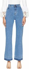 See by Chloe High-Waist Jeans with Raw Hem in Ink