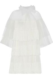 VALENTINO Tiered tulle, point d'esprit and lace mi