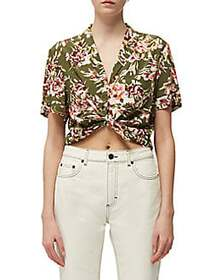 French Connection Floriana Tie-Front Camp Shirt CA
