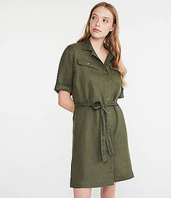 Linen Safari Dress