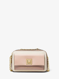 Michael Kors Sylvia Large Tri-Color Crossgrain Lea