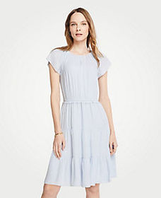 Tiered Flutter Sleeve Dress