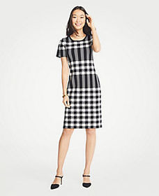 Tall Gingham Sweater Dress