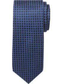 Pronto Uomo Royal Blue Woven Check Skinny Tie