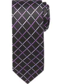 Pronto Uomo Purple Diamond Check Skinny Tie