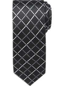Pronto Uomo Black & White Diamond Check Skinny Tie