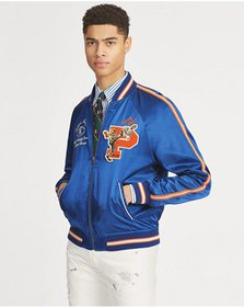 Ralph Lauren Satin Souvenir Baseball Jacket