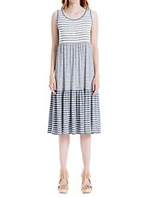 Max Studio Striped Shift Dress INDIGO
