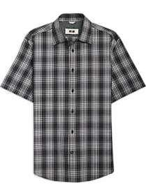 Joseph Abboud Black & Gray Plaid Short Sleeve Spor