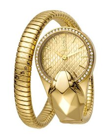 Just Cavalli 26mm Glam Chic Coiled Snake Watch Gol