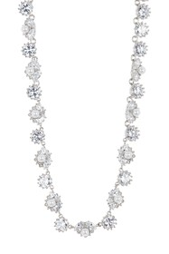 Marchesa CZ & Imitation Pearl Collar Necklace