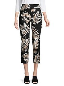 Context Printed High-Rise Cropped Pants BLACK