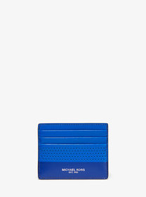 Michael Kors Cooper Tall Perforated Leather Card C