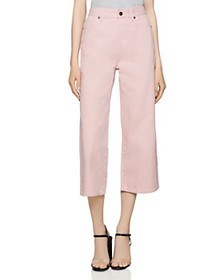 BCBGENERATION - Cropped Wide-Leg Jeans in Rose Smo
