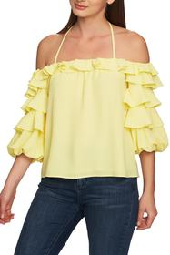 1.State Tiered Ruffle Sleeve Blouse