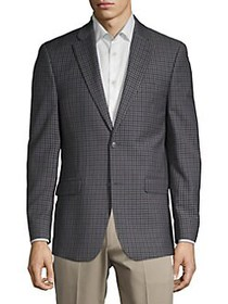 Tommy Hilfiger Checkered Blazer NAVY
