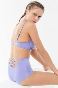 Out From Under Shimmer Strappy Back High-Waisted B